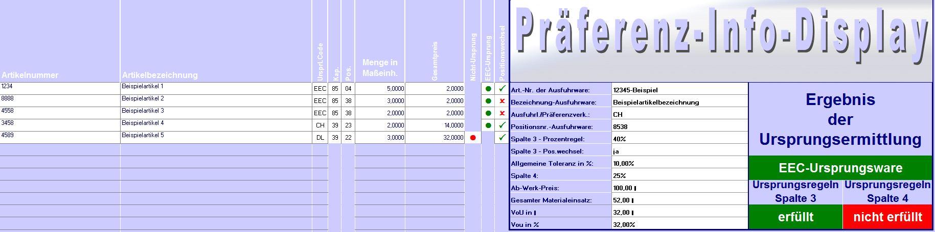 e mail - Praferenzkalkulation Beispiel